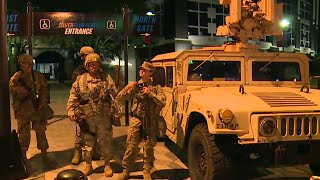 Charlotte riots: National Guard out in force as city hit by third night of protests (RAW)