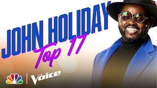 "John Holiday Croons Frank Sinatra's ""Fly Me to the Moon"" - The Voice Live Top 17 Performances 2020"