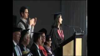 Valedictorian speech, Victoria University graduation, 2012