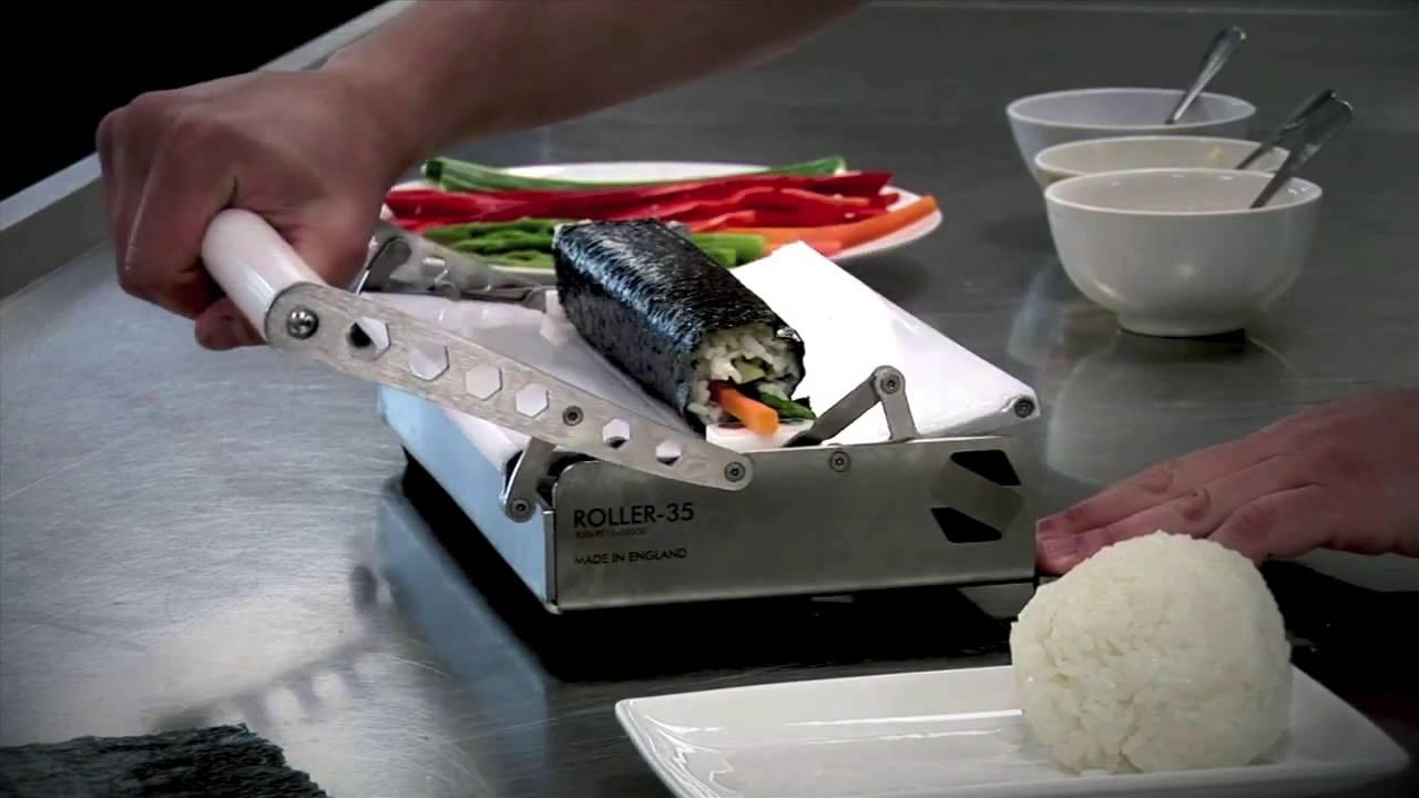 sushi machine roller 35 sushi robots youtube. Black Bedroom Furniture Sets. Home Design Ideas