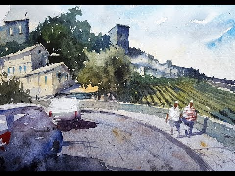 How to use a Dashcam image for a painting - Watercolor Demon