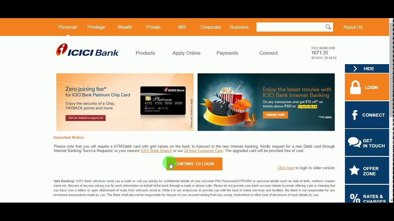 icici bank canada internet banking login