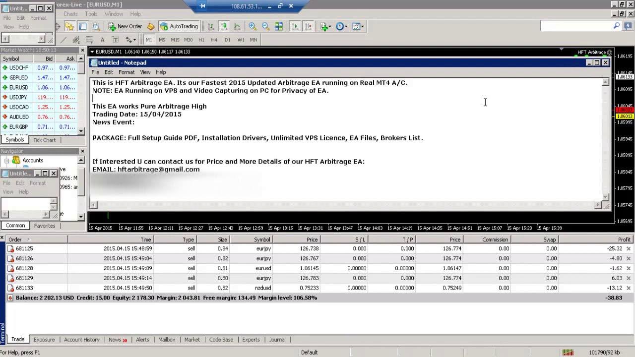 Arbitrage EA REAL ACCOUNT TRADING 03 (HFT ARBITRAGE EA) - YouTube
