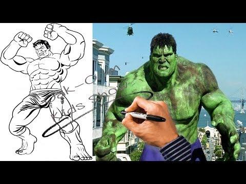 สอนวาดรูป การ์ตูน วาดรูป การ์ตูน เดอะ ฮัค - How To Draw The Hulk