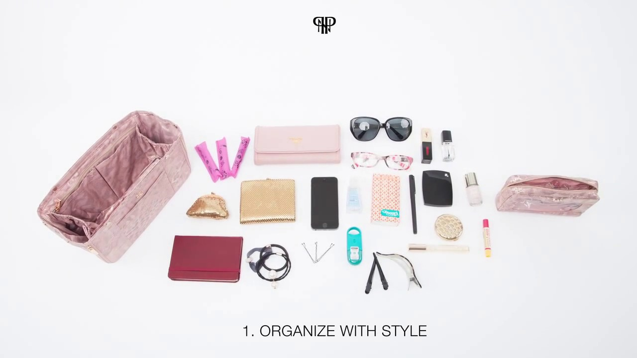 f6820e6dc5bb PurseN Handbag Organizer Insert - How It Works - YouTube
