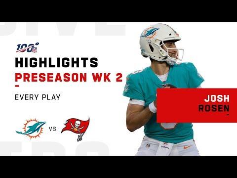 Every Josh Rosen Play vs. Buccaneers | NFL 2019 Highlights