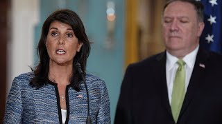 Pompeo, Haley speak to journalists