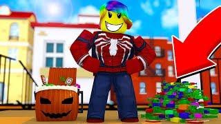 GETTING MILLIONS OF CANDIES IN SECONDS (Roblox Trick Or Treating Simulator)