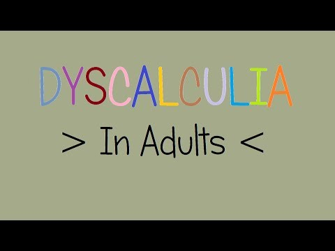 Dyscalculia | In adults