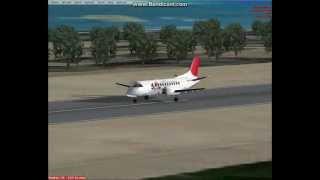 Fsx Saab 340 Japan Air Commuter fly Kagoshima to Kikai