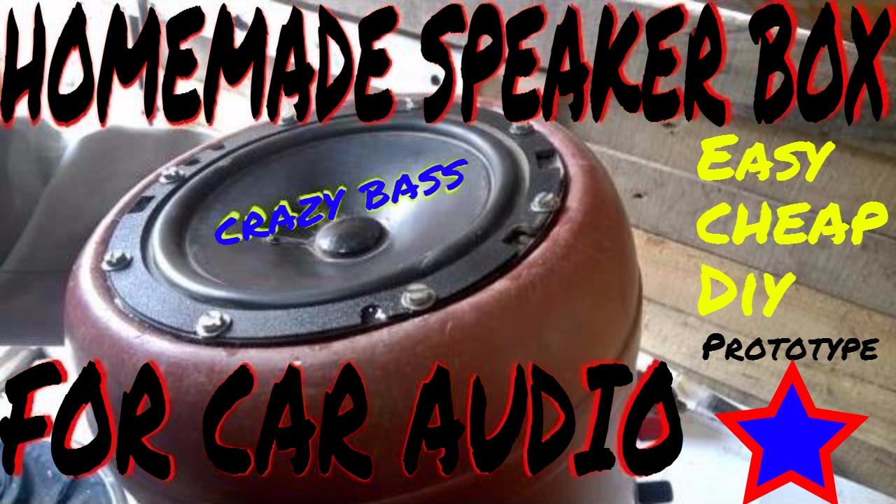 Diy Car Audio : Homemade speaker box enclosure easy to make