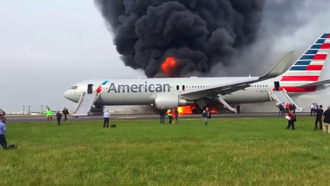 วินาทีหนีตาย ไฟไหม้บนเครื่องบิน