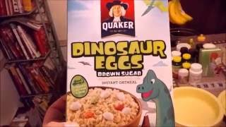 Quaker's Dinosaur Eggs Oatmeal is Back!!