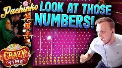 CRAZY TIME 10x Multiplier Pachinko Bonus Huge Win!