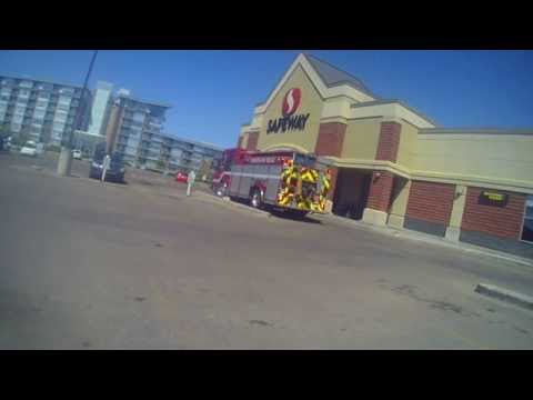 Structure Fire At Safeway In Edmonton