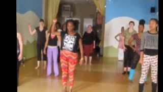 AfroDansAsana Yoga/Dance Warm up Yanvalou Style