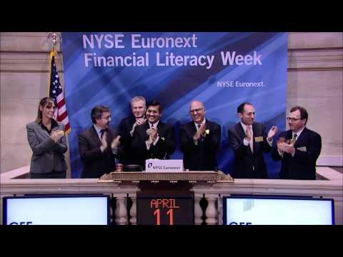 Cities for Financial Empowerment (CFE) at the NYSE rings the NYSE Opening Bell