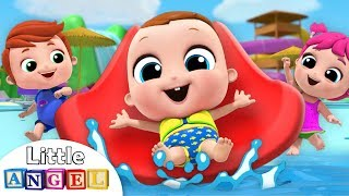Baby Goes to the Waterpark  Playground Song  Nursery Rhymes Little Angel