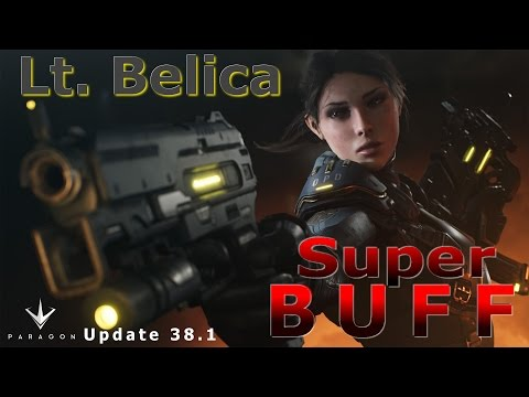 Lt. Belica SUPER BUFF!! (Patch 38.1) Paragon HD Gameplay!