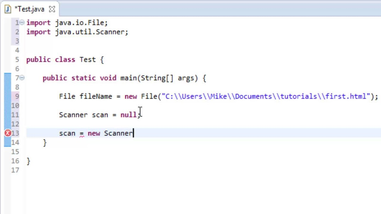 Java - I/O - Reading Files with Scanner