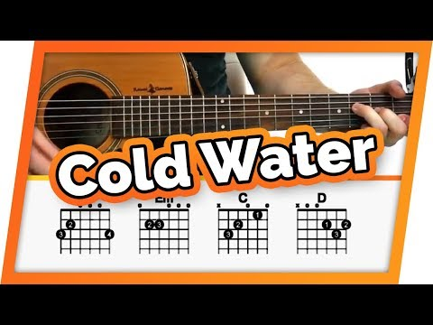 Cold Water - Justin Bieber / Major Lazer - Guitar Tutorial For Beginners | Easy Chords Lesson