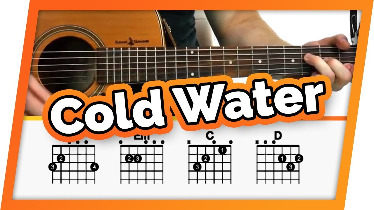 Cold Water Justin Bieber Major Lazer Guitar Tutorial For
