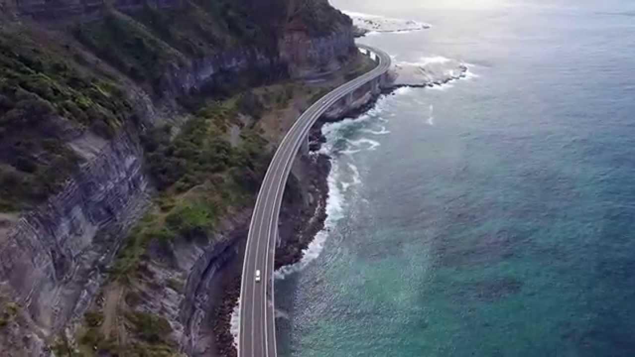 Dji Phantom 3 Drone >> Sea Cliff Bridge I 4K I Aerial cinematography - YouTube