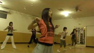 秋田ダンス13 ・ガールズヒップホップ 「 レッスン風景」 yo-ko girls hiphop