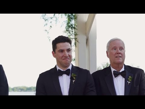 The way this groom looks at his bride as she walks down the aisle... - Film by KEJ Productions