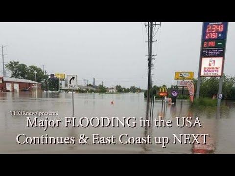 Major Flooding USA Continues & East Coast up Next