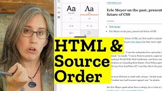 HTML Source Order and When There's No CSS