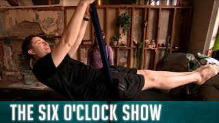 Ray's fitness journey takes him to new heights with aerial acrobatics   The Six O'Clock Show
