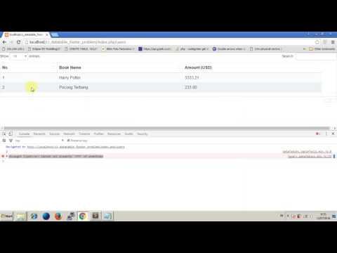 Datatables error - Uncaught TypeError Cannot set property