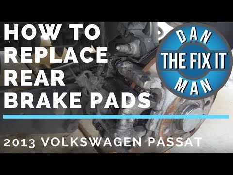HOW TO REPLACE REAR BRAKE PADS 2013 VOLKSWAGEN PASSAT – DIY