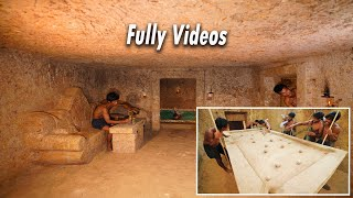 Build The Greatness Kings Underground Temple & Swimming Pool And Made Snooker Table By Mud