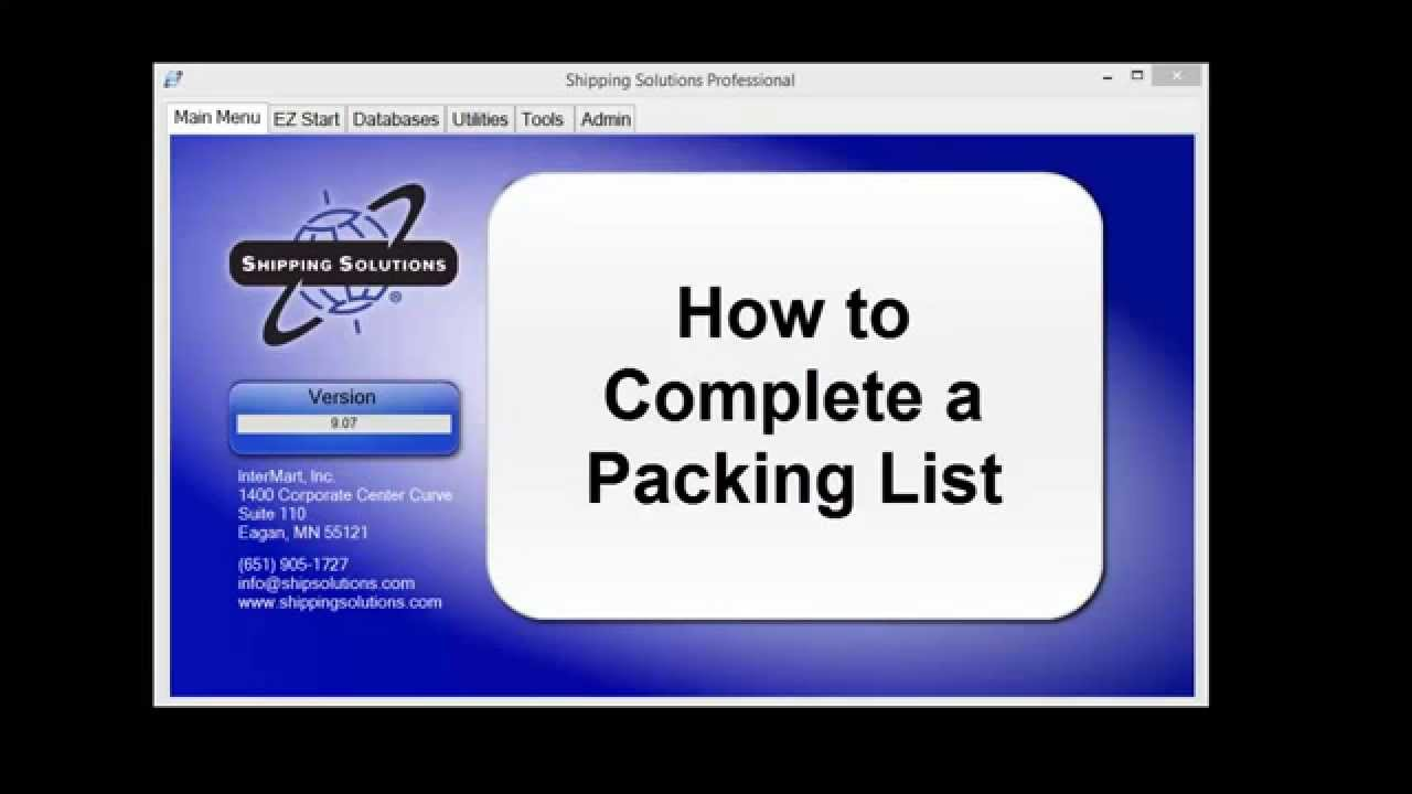 shipping solutions export software how to create a packing list