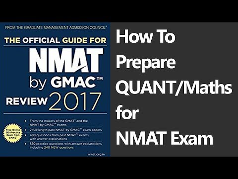 How To Prepare QUANT/Maths for NMAT Exam