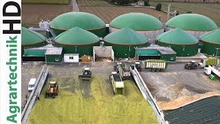 Claas Jaguar 980   Fendt  724 - 939   Biogas Plant   Traktoren häckseln Mais   AgrartechnikHD thumbnail