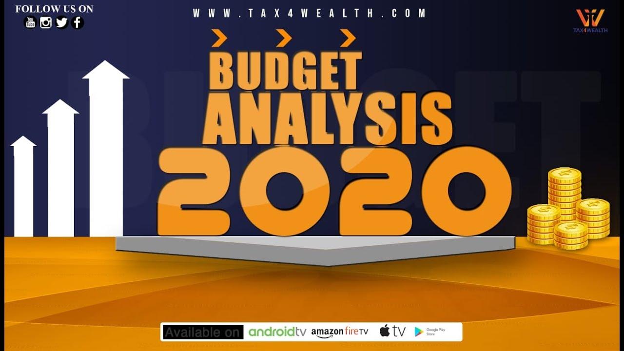 Budget Analysis 2020 in Hindi