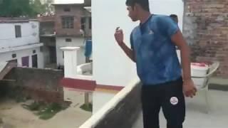 Sarfaraz khan batting practice at home