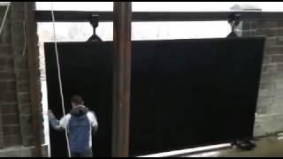 Смотреть видео откатные ворота в Алматы