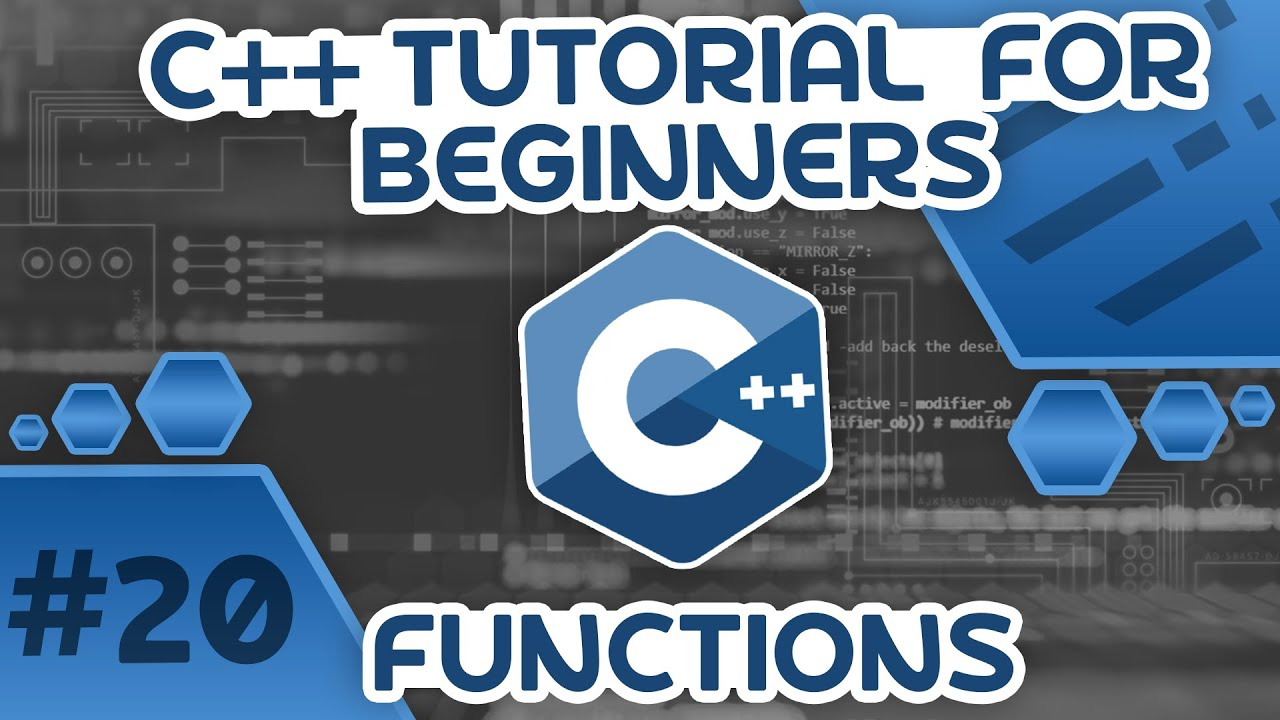 Learn C++ With Me #20 - Functions
