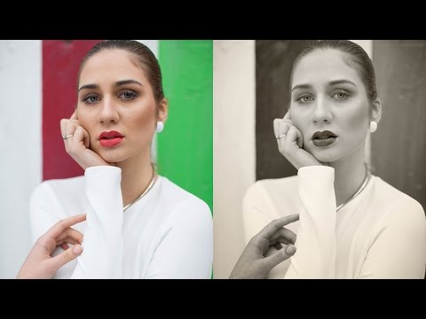 How to Create a Stunning Black and White Portrait in Photoshop