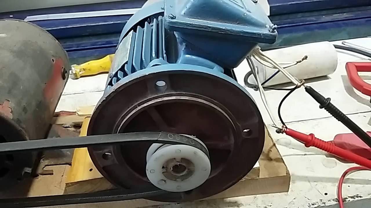fb88182a4dd Gerando energia com motor trifásico - generating power with three-phase  motor - YouTube