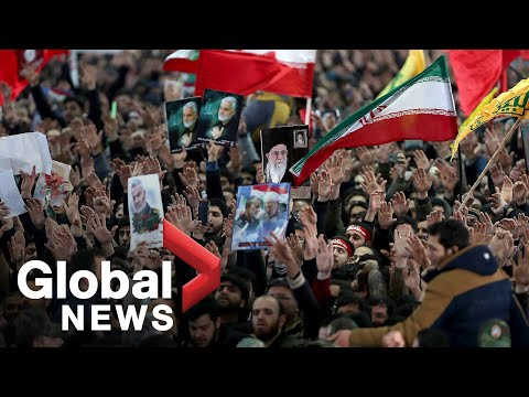 Iranians march after funeral procession for top General Qassem Soleimani