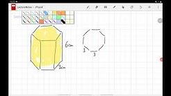9c Aufg9 Wie kann ich das Volumen eines sechseitigen Prismas verdoppeln?