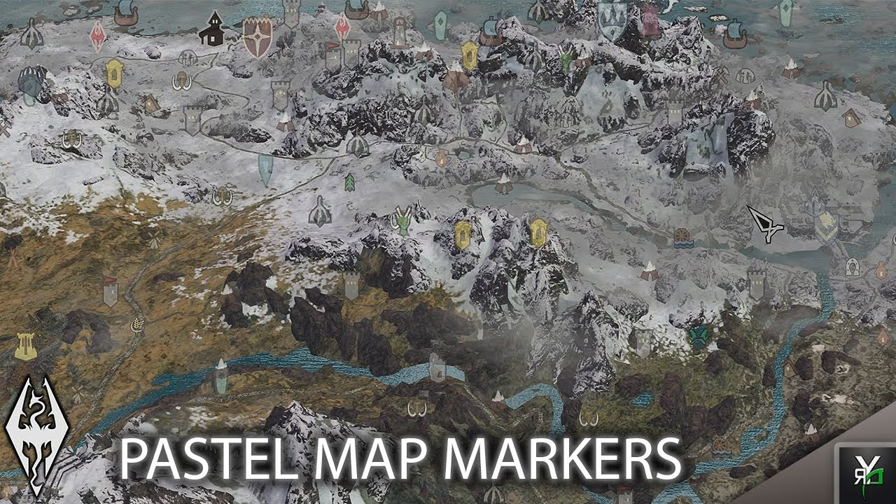 PASTEL MAP MARKERS: Quality of Life Mod!!- Xbox Modded Skyrim Mod ...