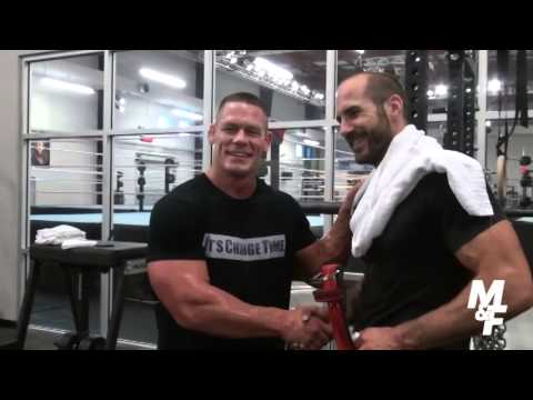 John cena 39 s muscle fitness shoot with cesaro youtube - John cena gym image ...