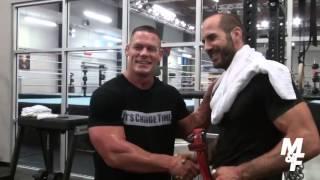 John Cena's Muscle & Fitness shoot with Cesaro