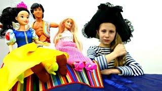 Барби, Белоснежка и Аладдин в поисках сокровищ. Мультик с куклами